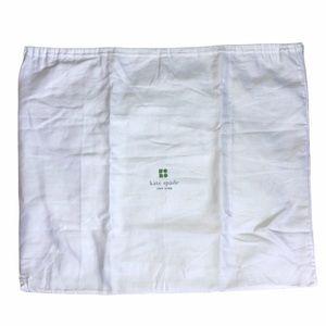 Kate Spade Large White Drawstring Dust Bag